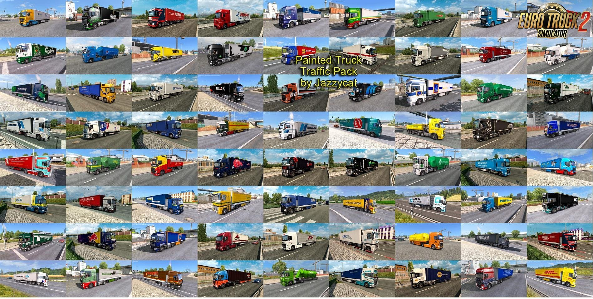 Painted Truck Traffic Pack v 2 6 by Jazzycat » Download