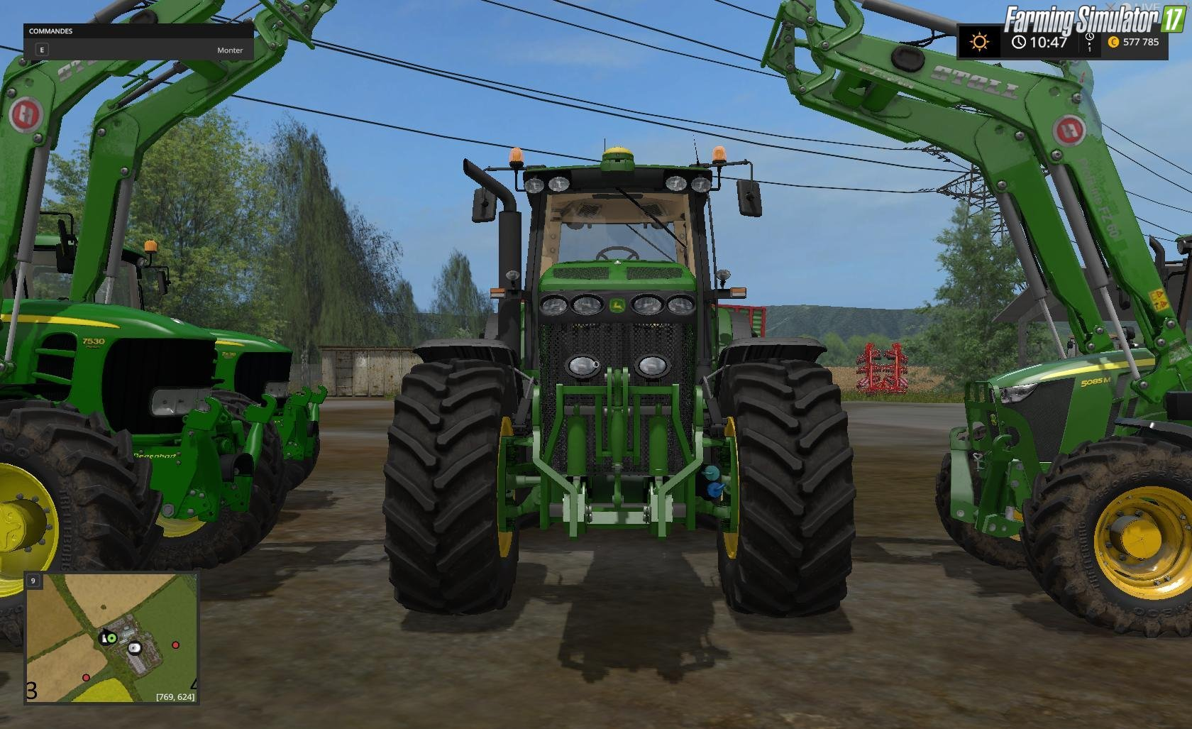 Tractors JOHN DEERE Pack 5/7/8 v2 for Fs17