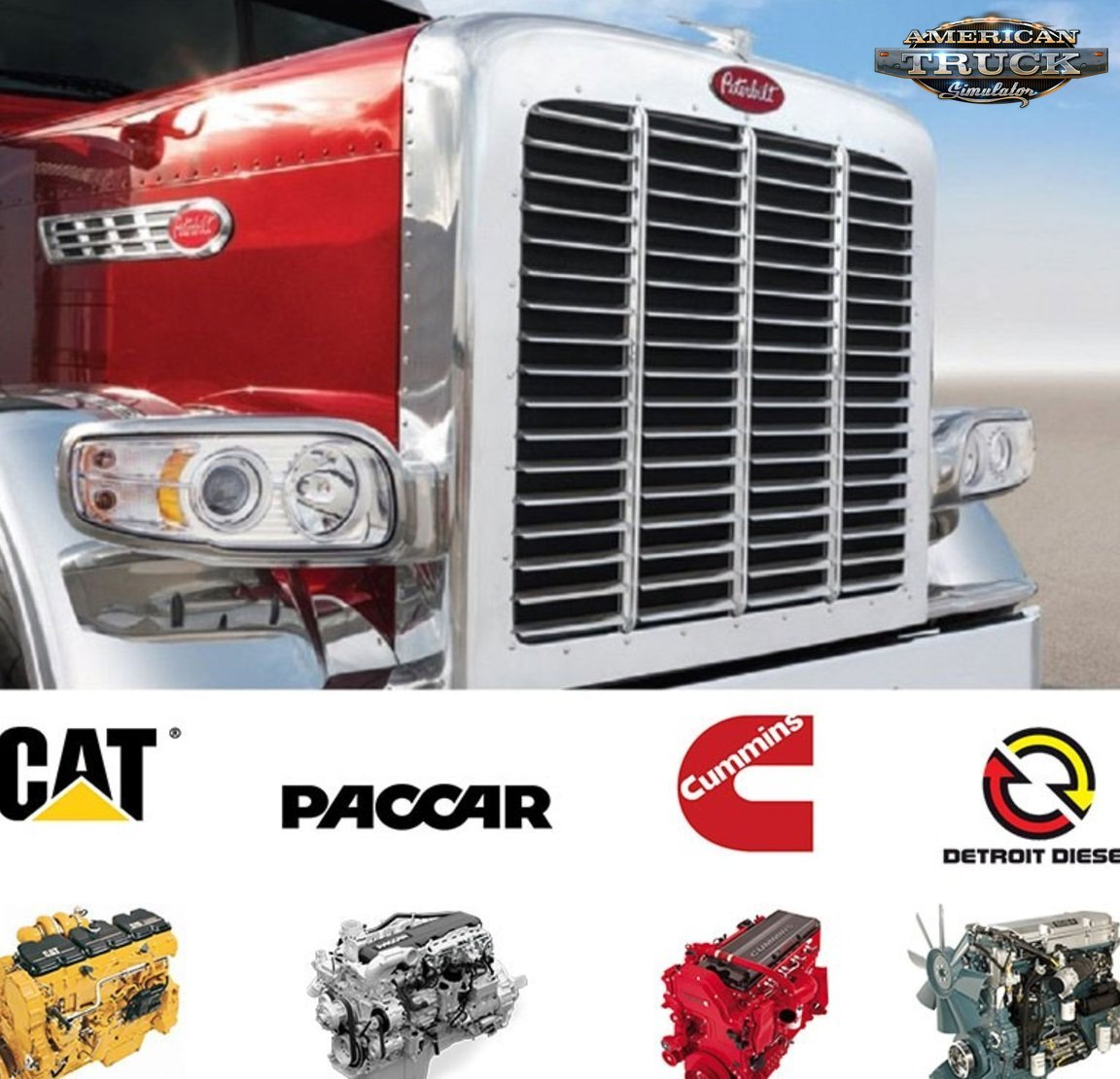 Peterbilt 389 Engines Mod for Ats