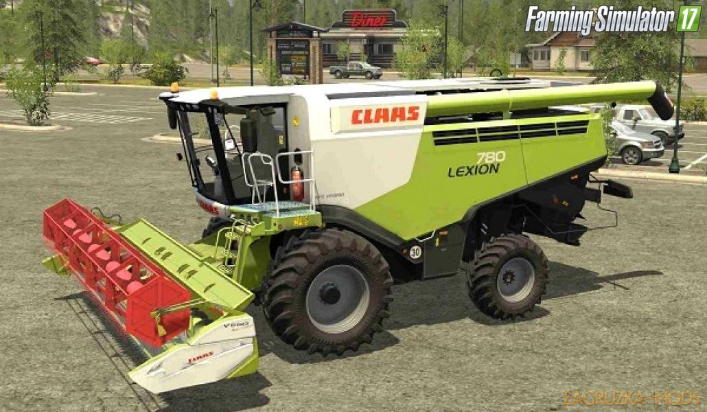 Combine Claas Lexion 780 Wheels v2 for Fs17