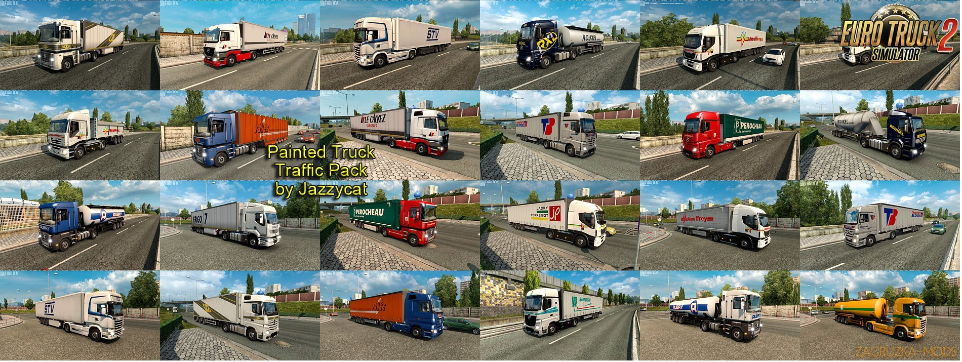 Painted Truck Traffic Pack v2.8 by Jazzycat [1.26.x]