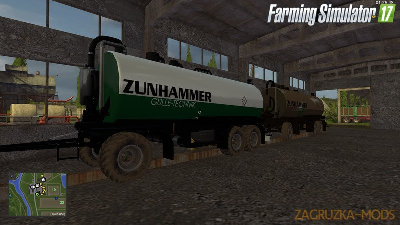 Zunhammer Slurry Transportation v1.0 for Fs17
