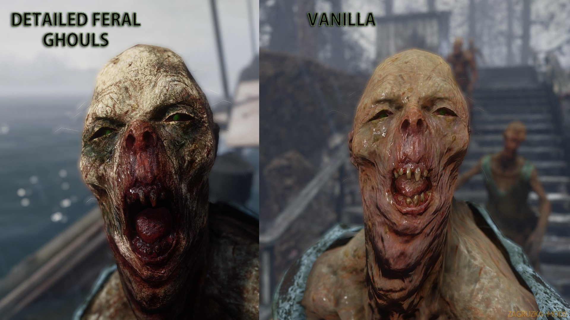 Detailed Texture Feral Ghouls v1.0 for Fallout 4