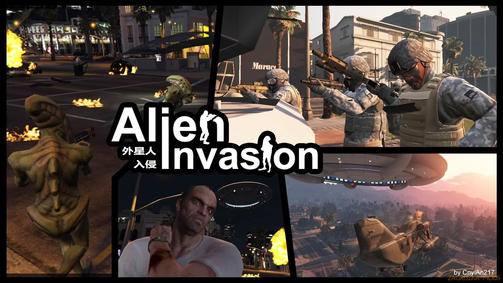 Alien Invasion Mod v1.4a for GTA 5