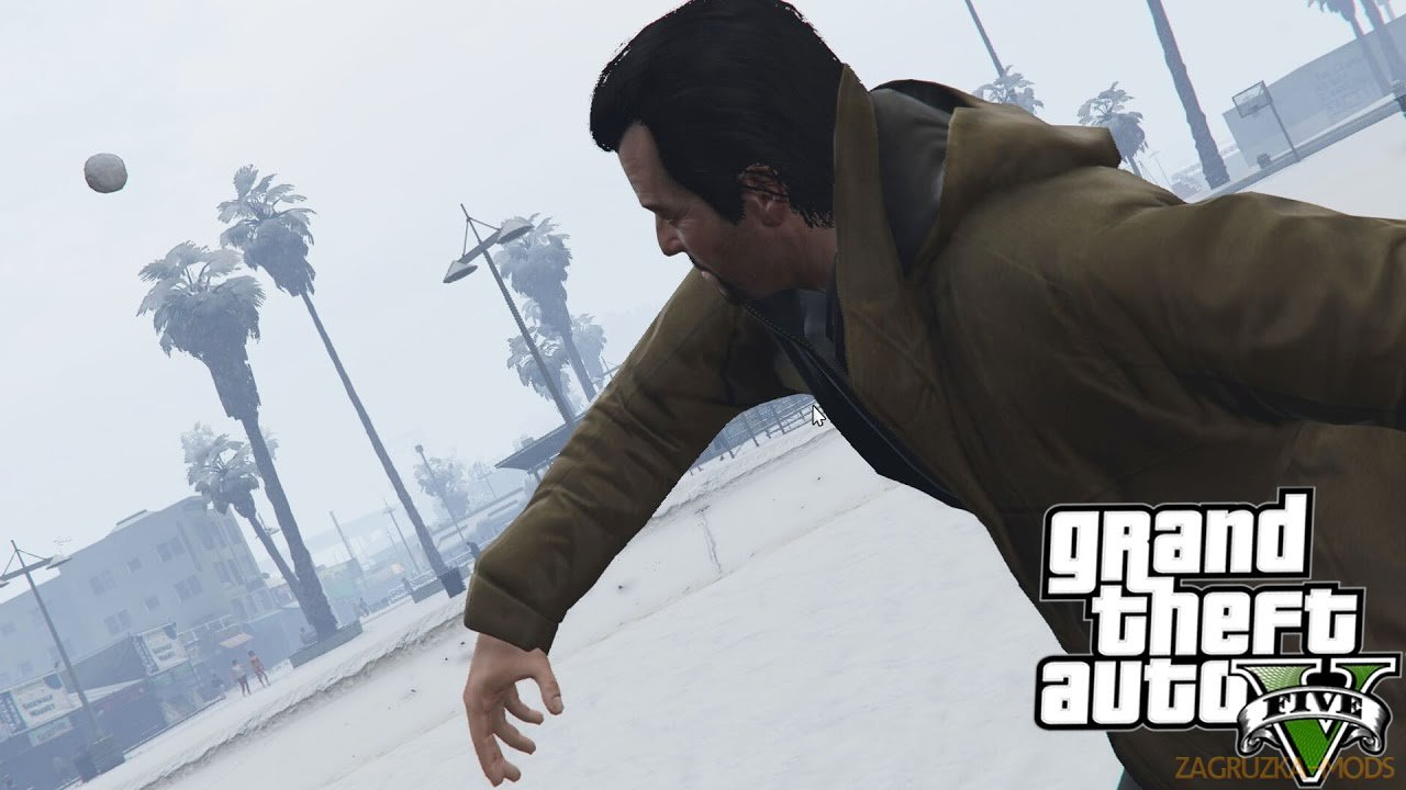 Snowballs in Singleplayer Mod v1.0 for GTA 5