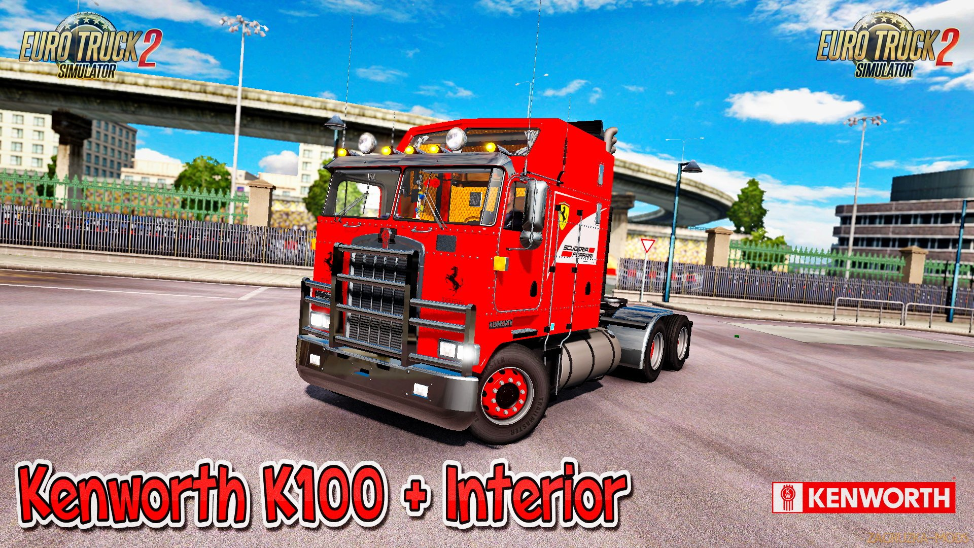 Kenworth K100 + Interior v1.0 (1.26.x) for ETS 2