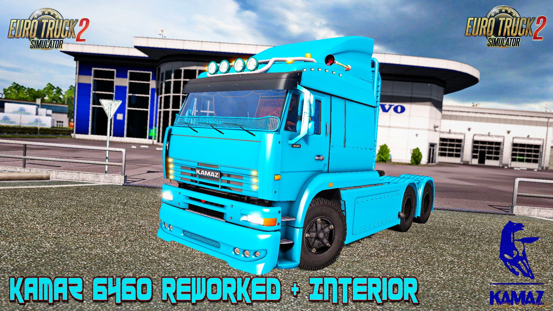 KamaZ 6460 Reworked + Interior v1.0 (1.26.x) for ETS 2