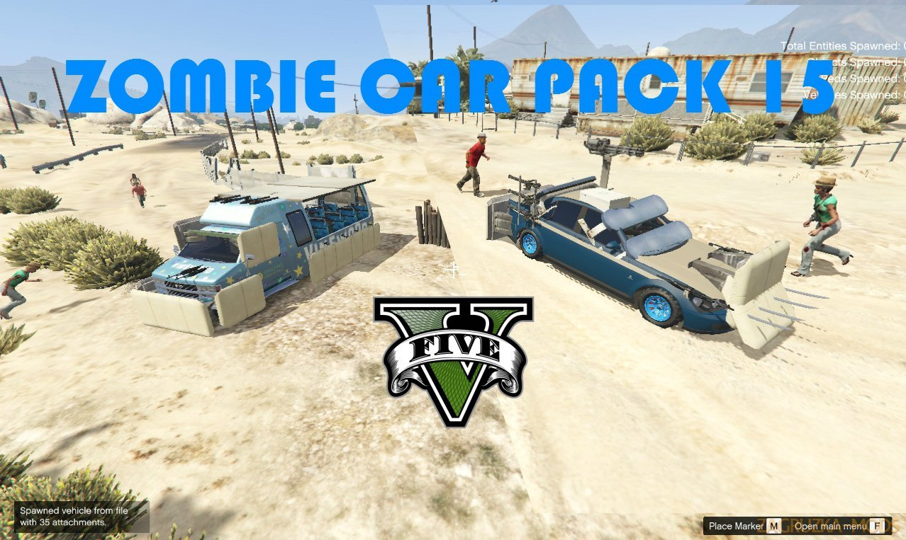 Zombie Car Pack v13.0 for GTA 5