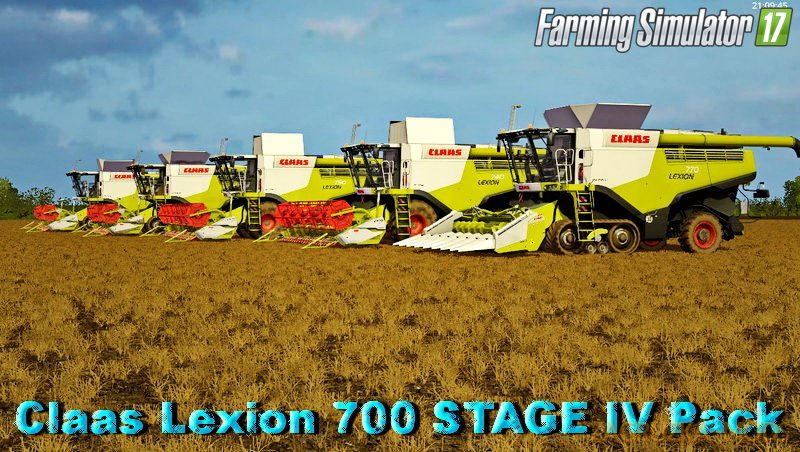 Claas Lexion 700 STAGE IV Pack v1.2 for FS 17