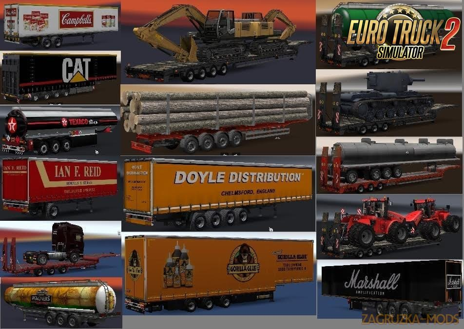 Chris45 Trailers Pack v9.02 for Ets2