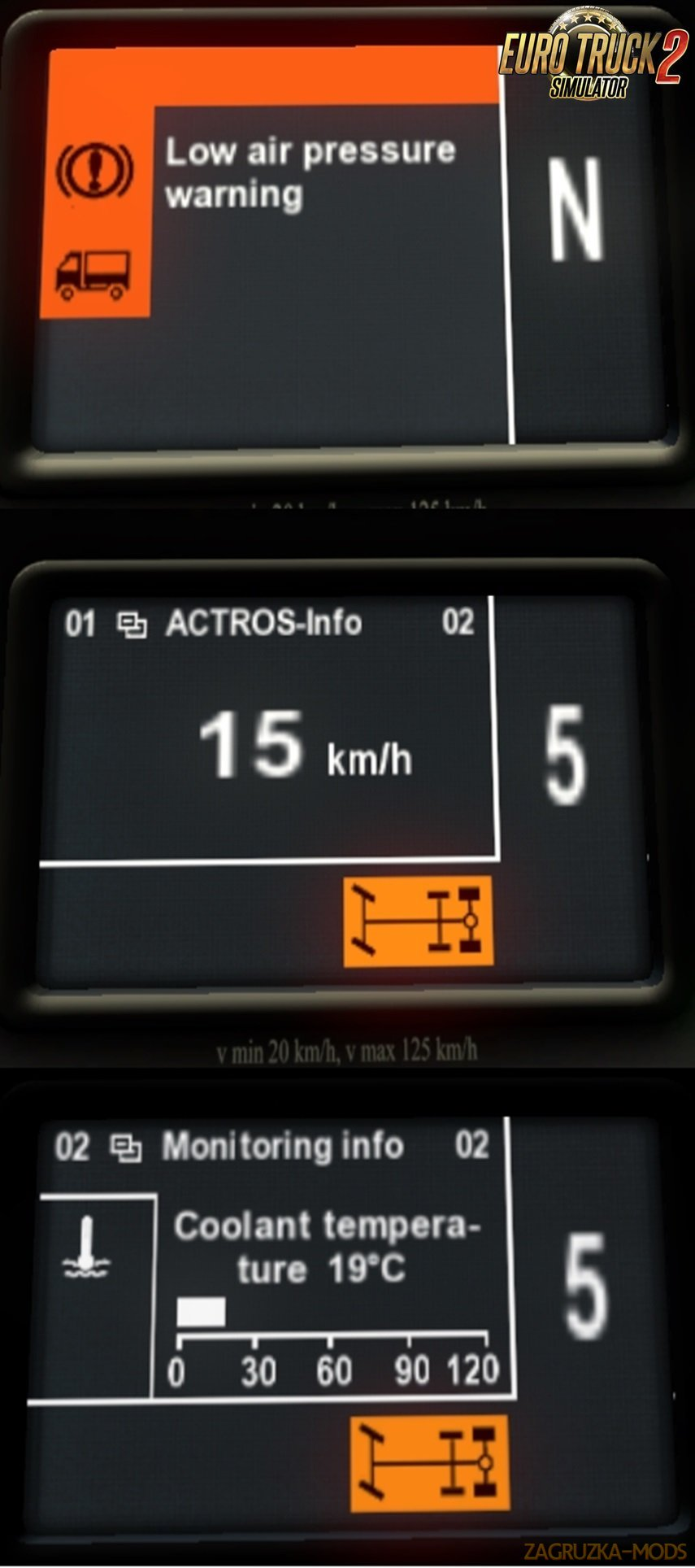 Mercedes Actros MP3 dashboard computer v1.1