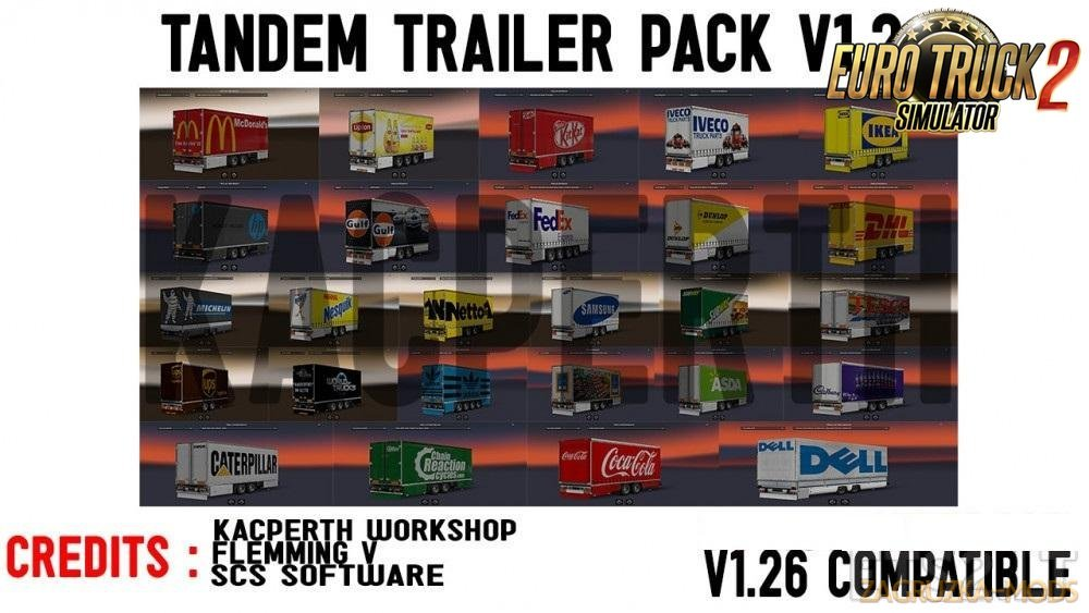 Tandem Trailer Pack v1.2.1 Fixed for Ets2