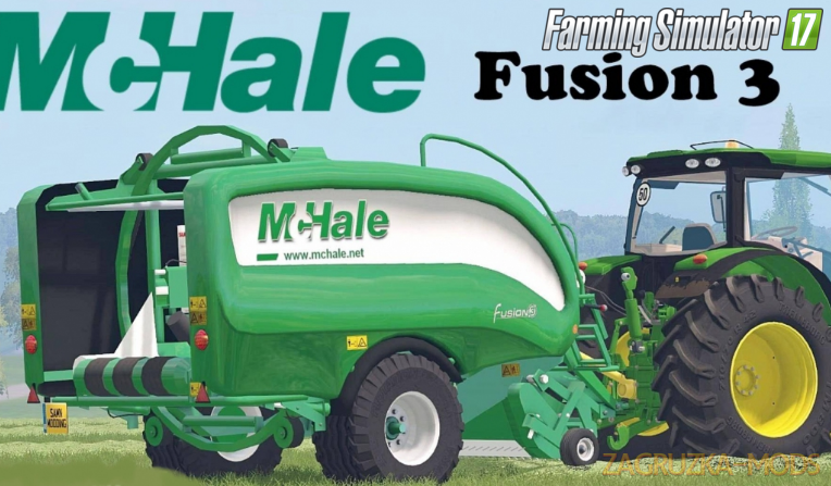 Mchale Fusion 3 Baler Wrapper Combo for Fs17