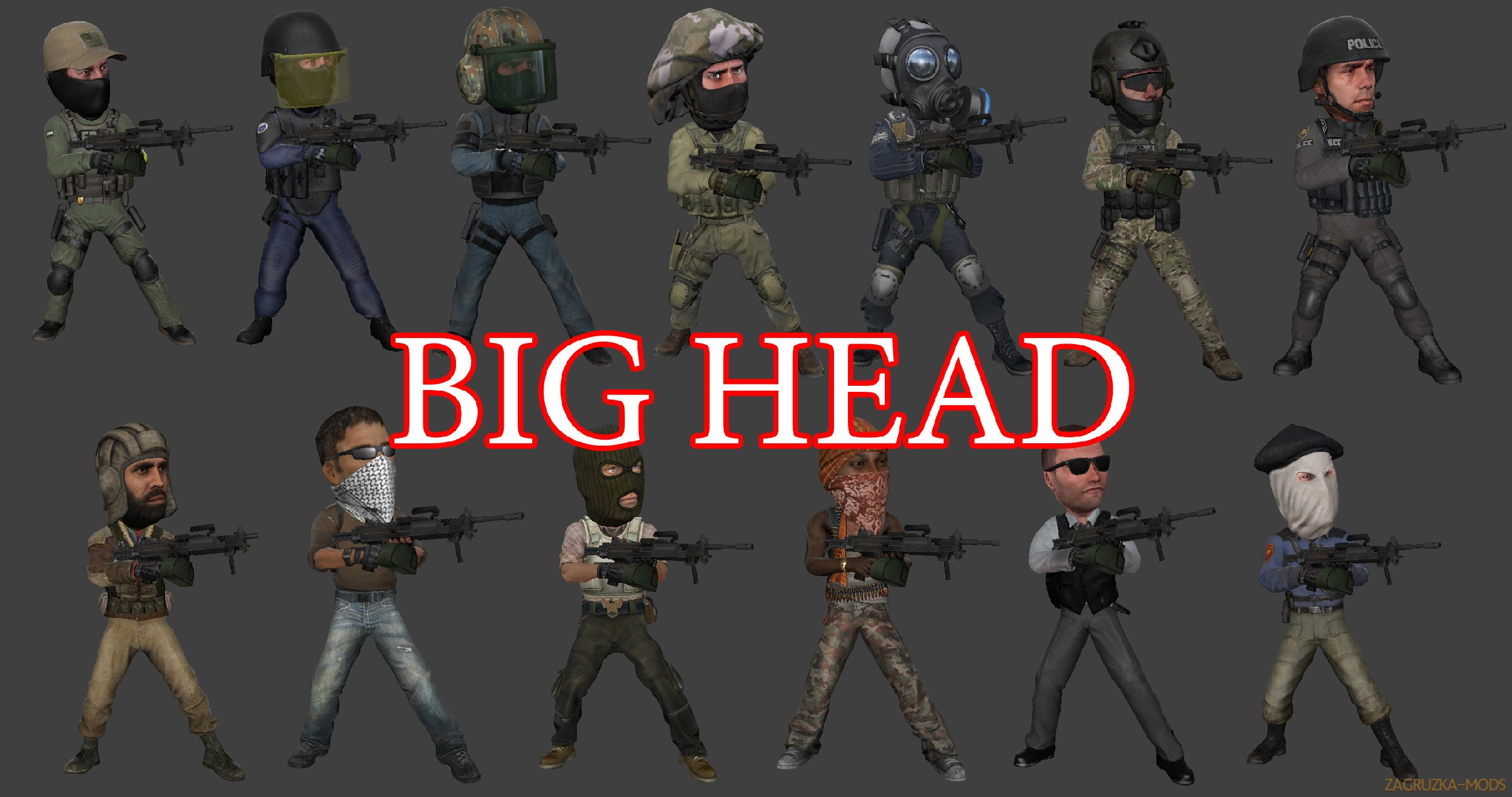 Big Head Skin v1.0 for CS:GO