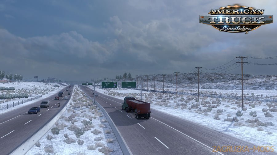Frosty Winter Weather Mod v2.4 (1.32.x) for ATS