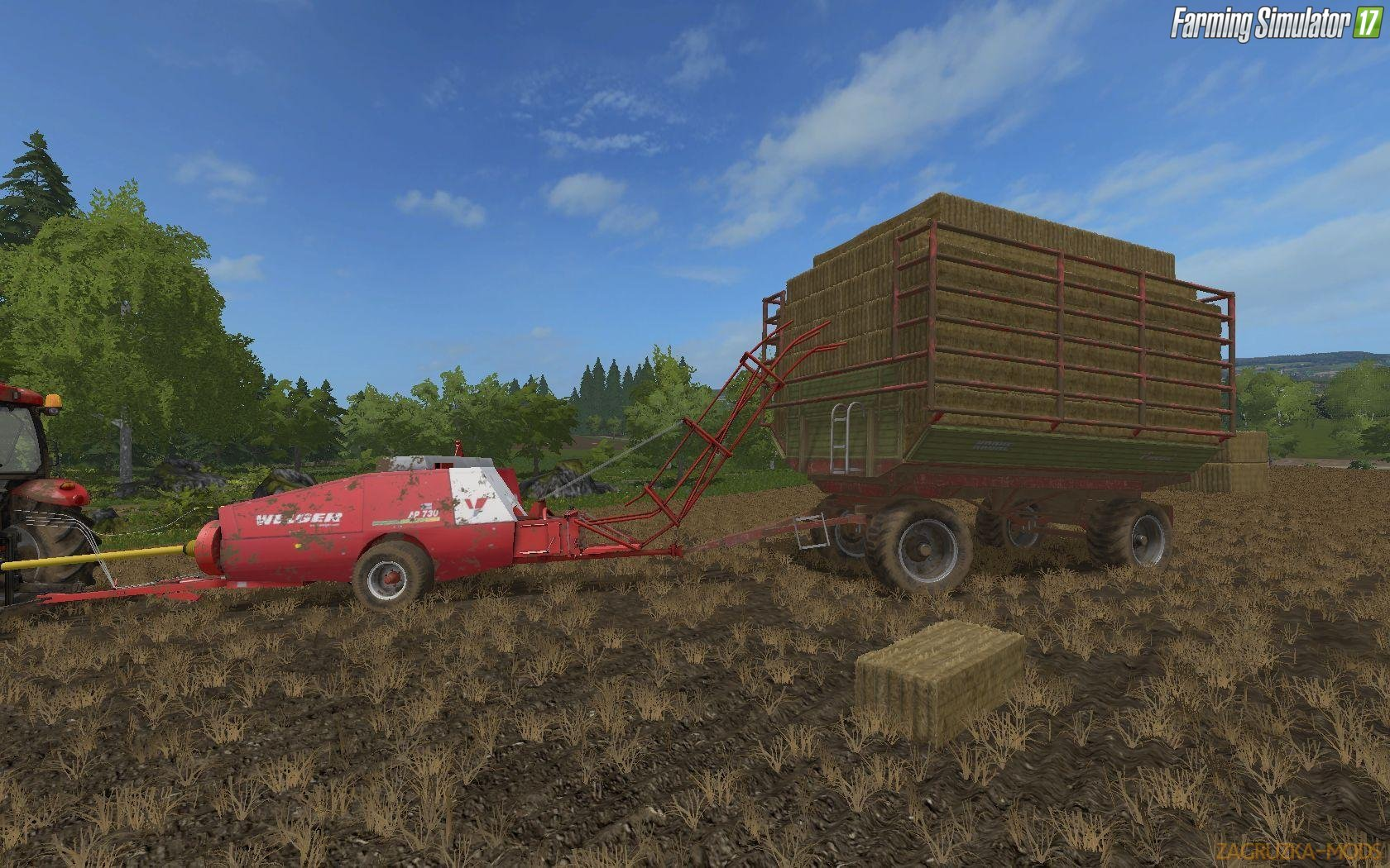 Welger Kleinballenpresse and Krone grain / collection vans v2.0 for Fs17