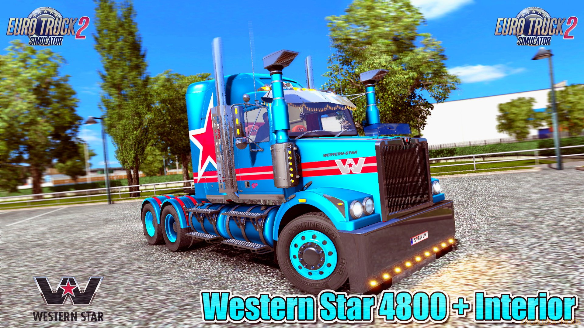 Western Star 4800 + Interior v3.1 by RTA Mods (1.30.x) for ETS 2