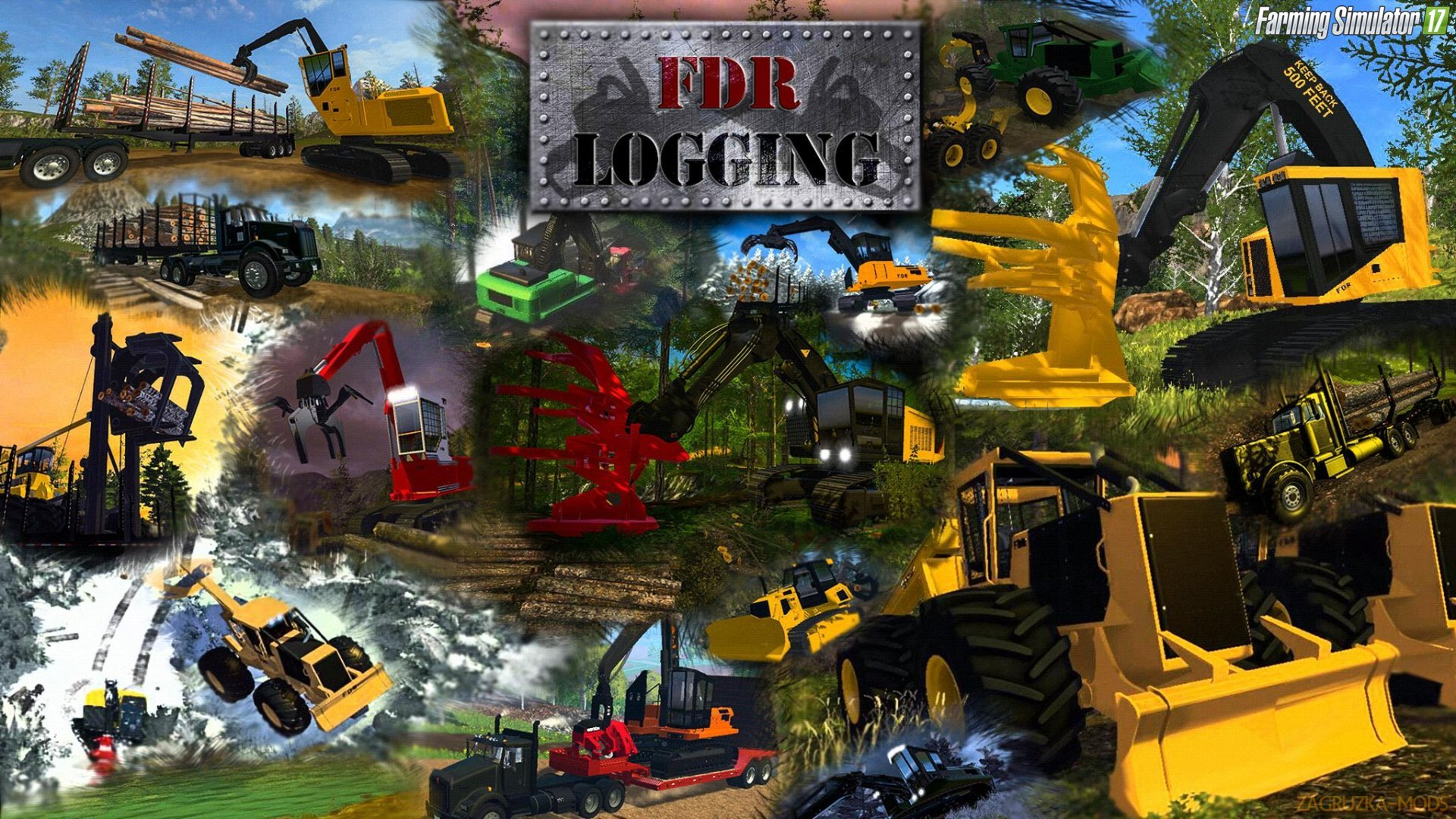 Forestry Equipment v7.0 by FDR Logging for FS 17
