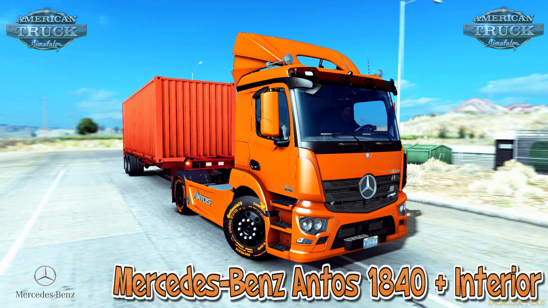 Mercedes-Benz Antos 1840 + Interior v1.0 (Updated) (v1.28.x) for ATS