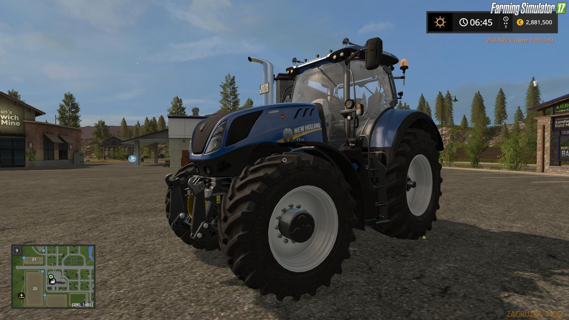 Tractor New Holland T7 v1.2 for Fs17