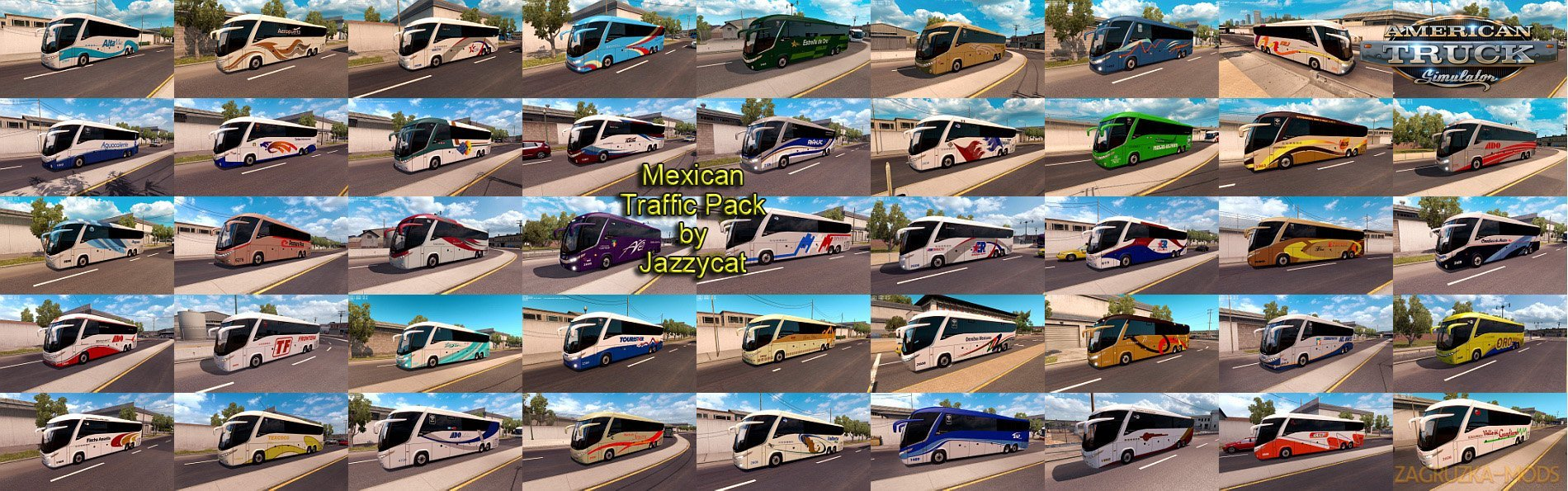 Mexican Traffic Pack v1.3 by Jazzycat (v1.6.x) for ATS