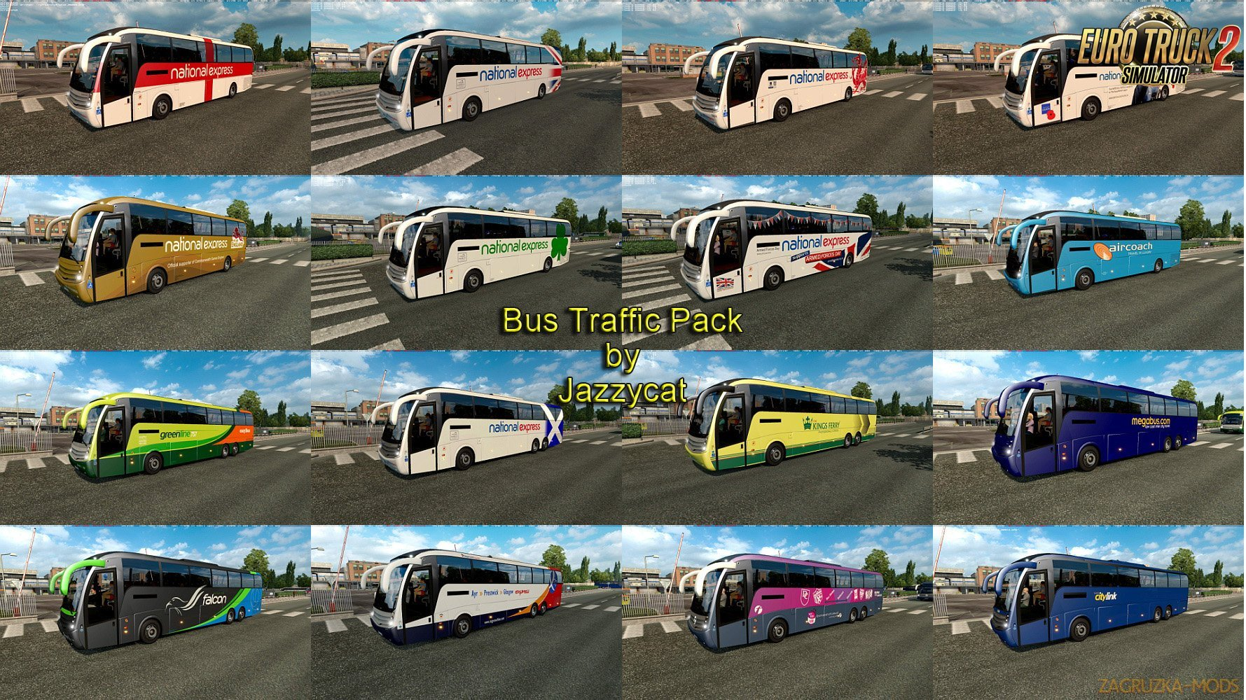 Bus Traffic Pack v2.2 by Jazzycat