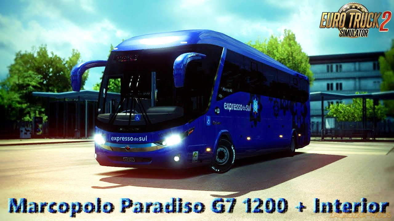 Marcopolo Paradiso G7 1200 + Interior v1.0 (1.27.x) for ETS 2