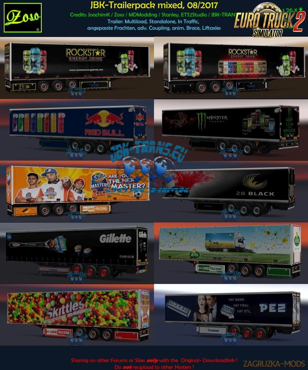 JBK- Trailer Pack mixed - 20 Trailer