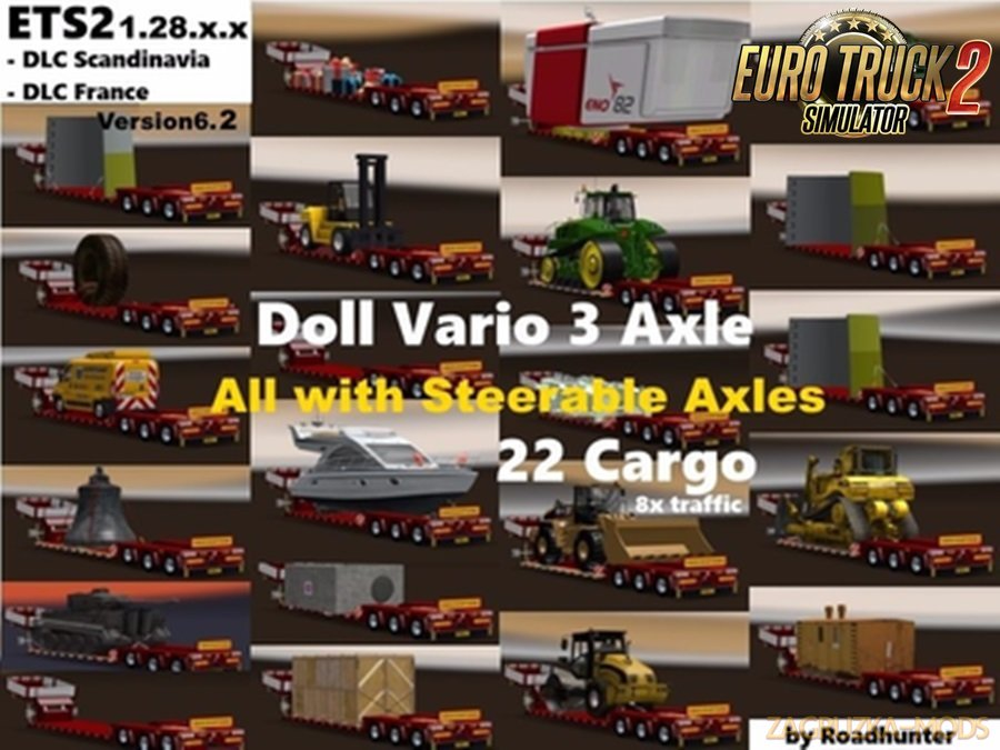 Doll Vario 3Achs with 22 Cargo  8x in traffic v6.2 by Roadhunter