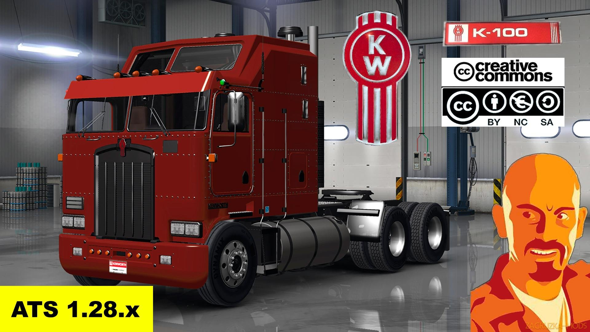 Kenworth K100 + Interior v1.0 by CyrusTheVirus (v1.28.x) for ATS