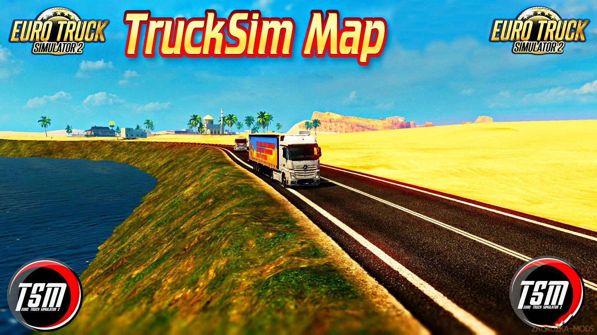 TruckSim Map v6.6-Fix [1.28.x]