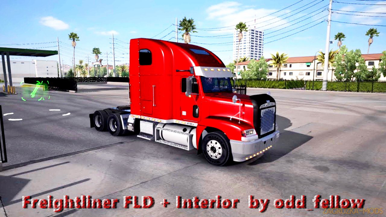 Freightliner FLD + Interior v1.5 by odd_fellow (1.28.x) for ETS 2