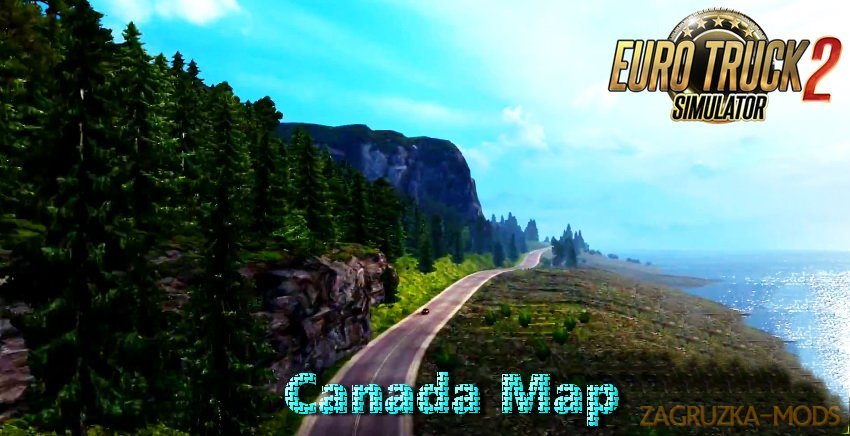 Canada Map (Beta Version) v1.0 by Ivan Mykyta (1.28.x) for ETS 2