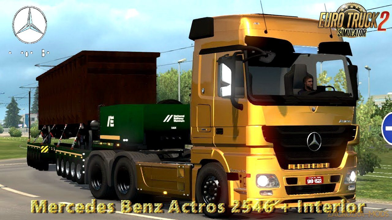 Mercedes Benz Actros 2546 + Interior v1.0 (Brasil Edition) (1.28.x) for ETS 2