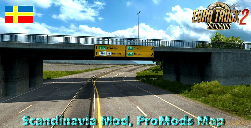 Scandinavia Mod, ProMods Map add-on v0.2 (1.28.x) for ETS 2