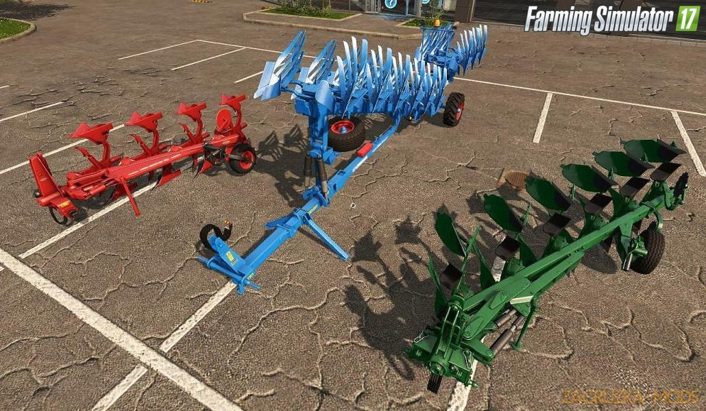 Standard Plows with Dynamic Trousers v1.0.0 for Fs17