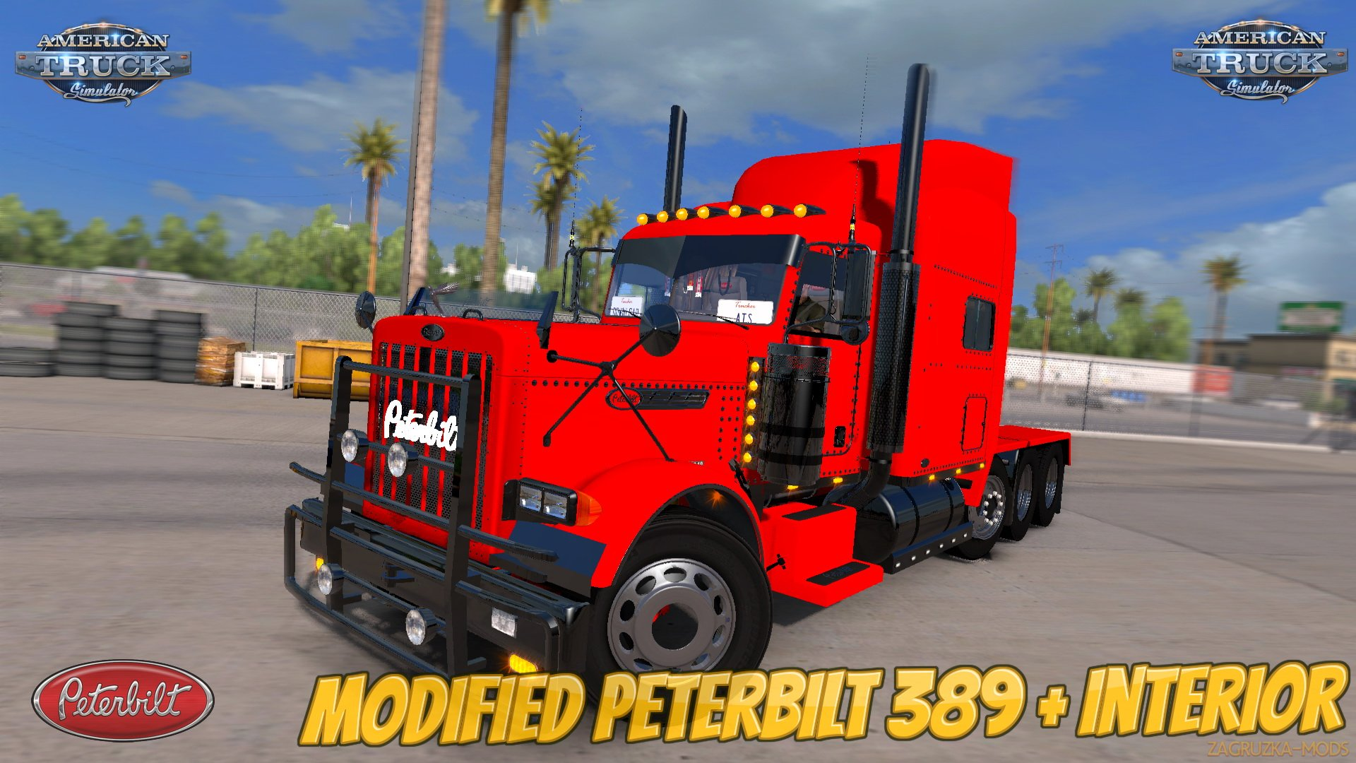 Modified Peterbilt 389 + Interior v2.1 (1.28.x) for ATS