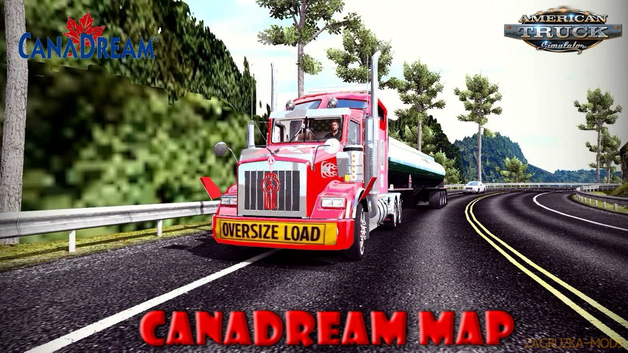 CanaDream Map v2.9.4 by ManiaX (1.37.x) for ATS