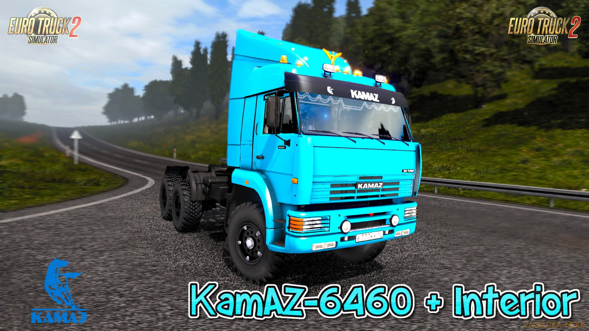 KamAZ 6460 + Interior v1.5 (1.28.x) for ETS 2