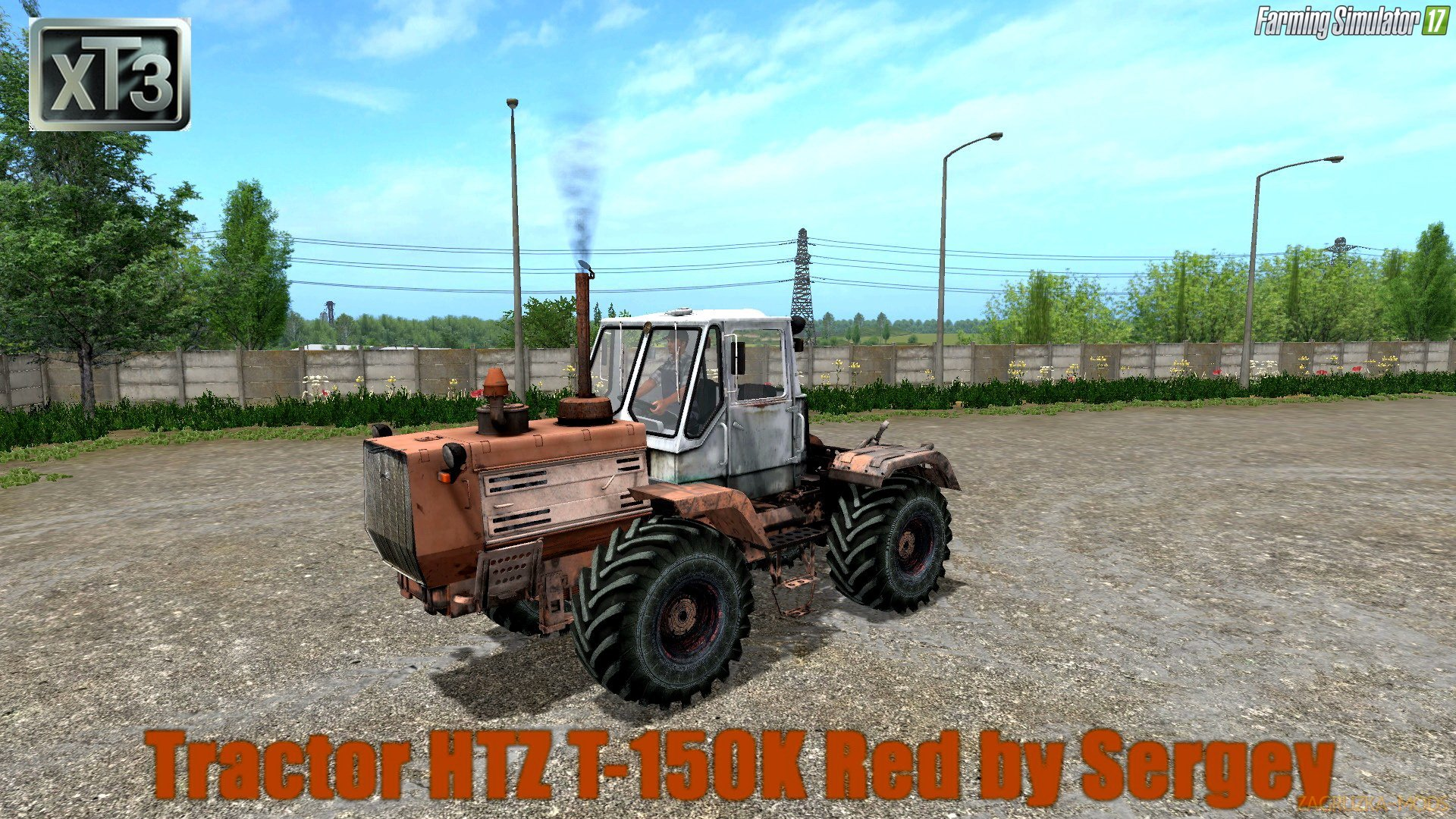 HTZ T-150K Red v1.3 by Sergey for FS 17