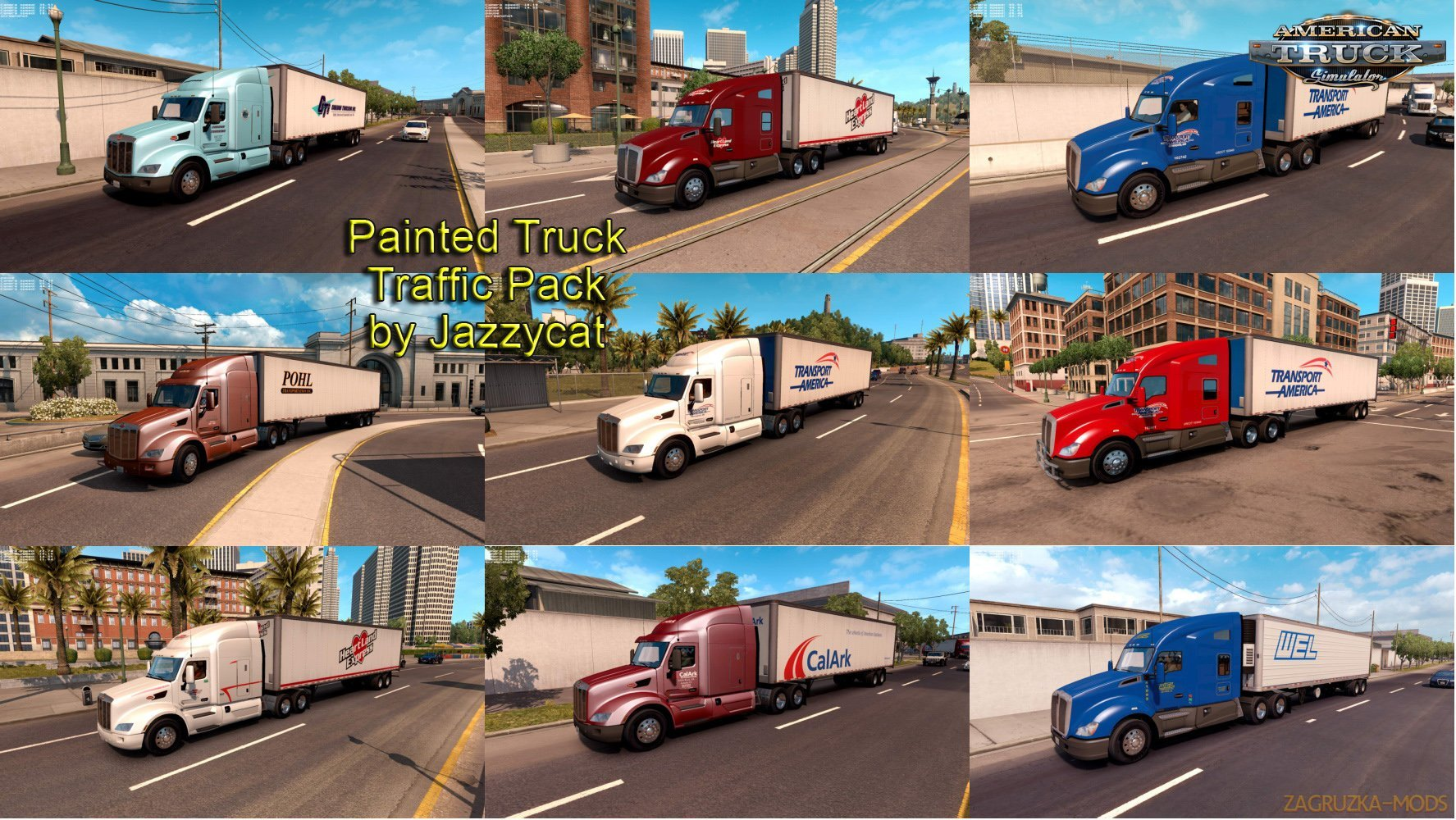 Painted Truck and Trailers Traffic Pack v1.2 by Jazzycat
