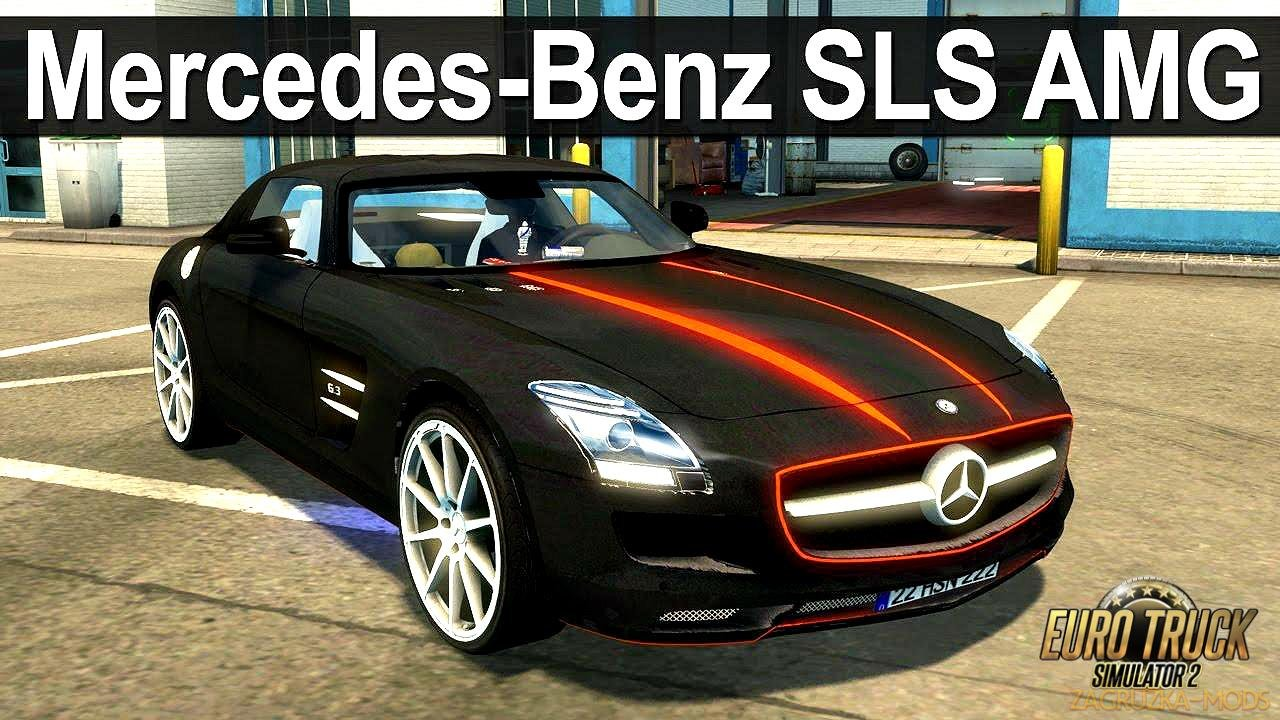 Mercedes Benz SLS AMG + Interior v1.1 (1.28.x) for ETS 2