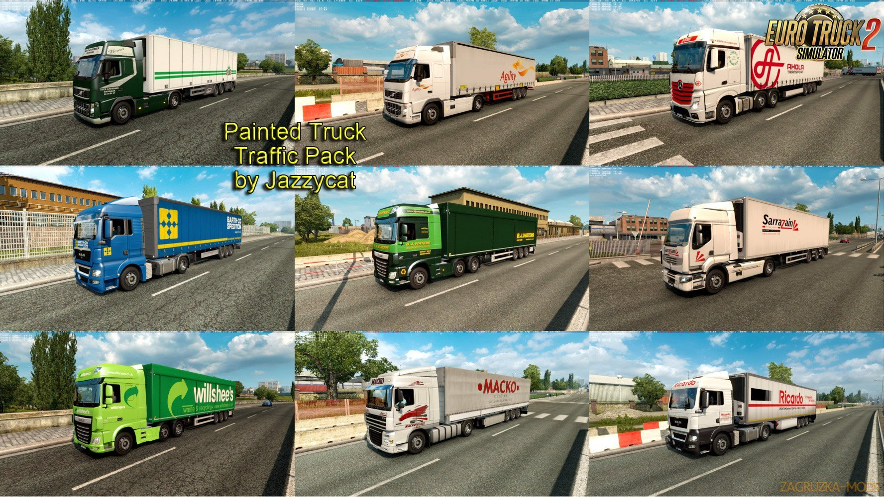Painted Truck Traffic Pack v 4.5 by Jazzycat