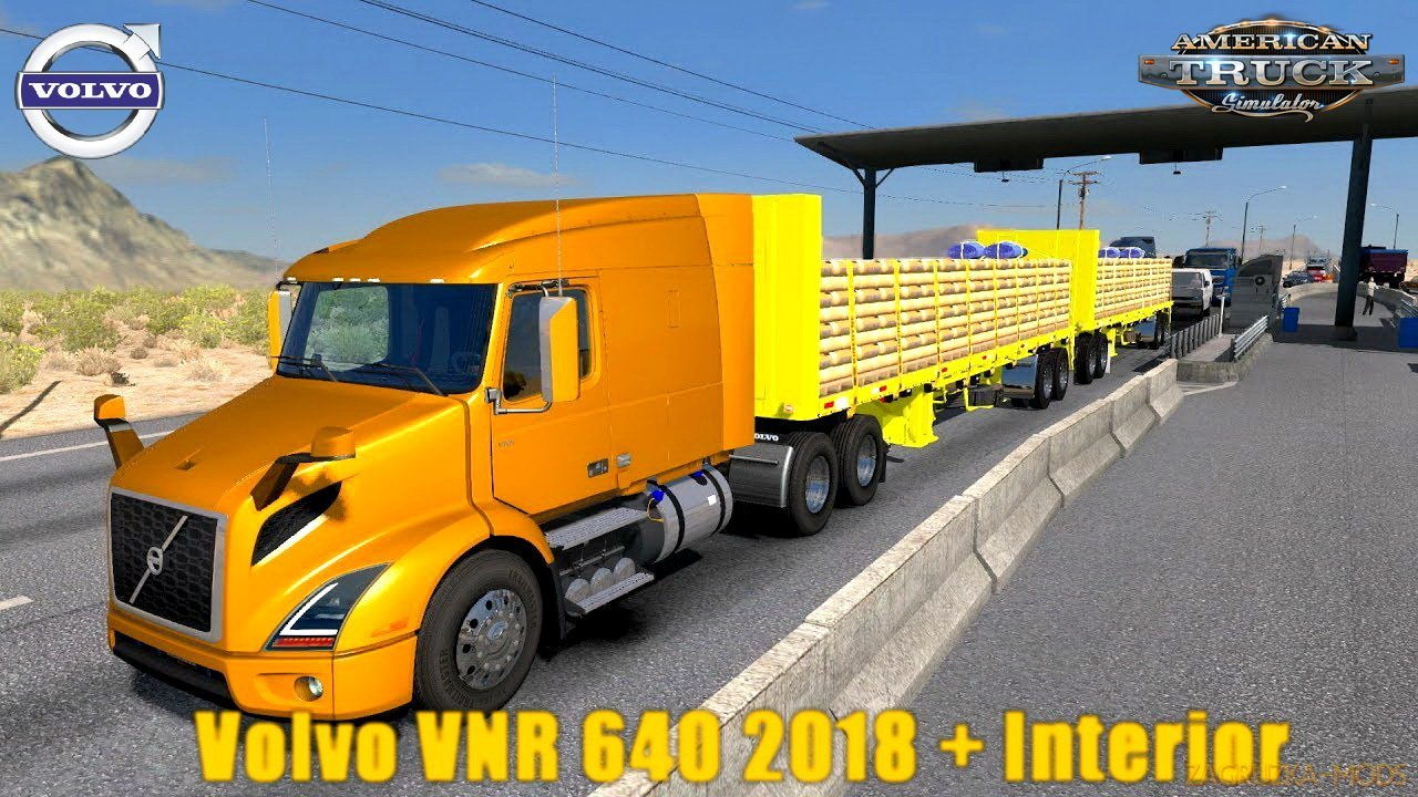 Volvo VNR 640 2018 + Interior v1.0 (1.29.x) for ATS