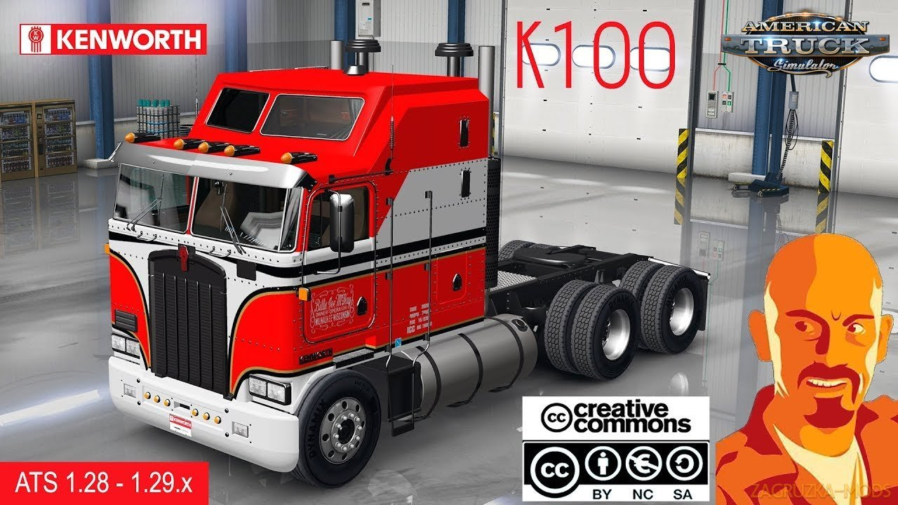 Kenworth K100 + Interior v1.0 by CyrusTheVirus (v1.29.x) for ATS