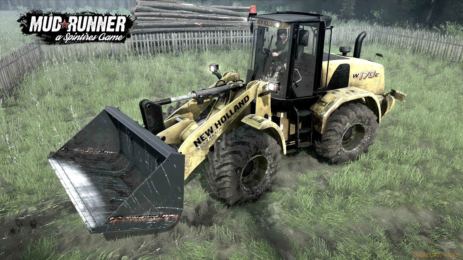 New Holland W170C v1.0 (v26.10.17) for Spin Tires: MudRunner