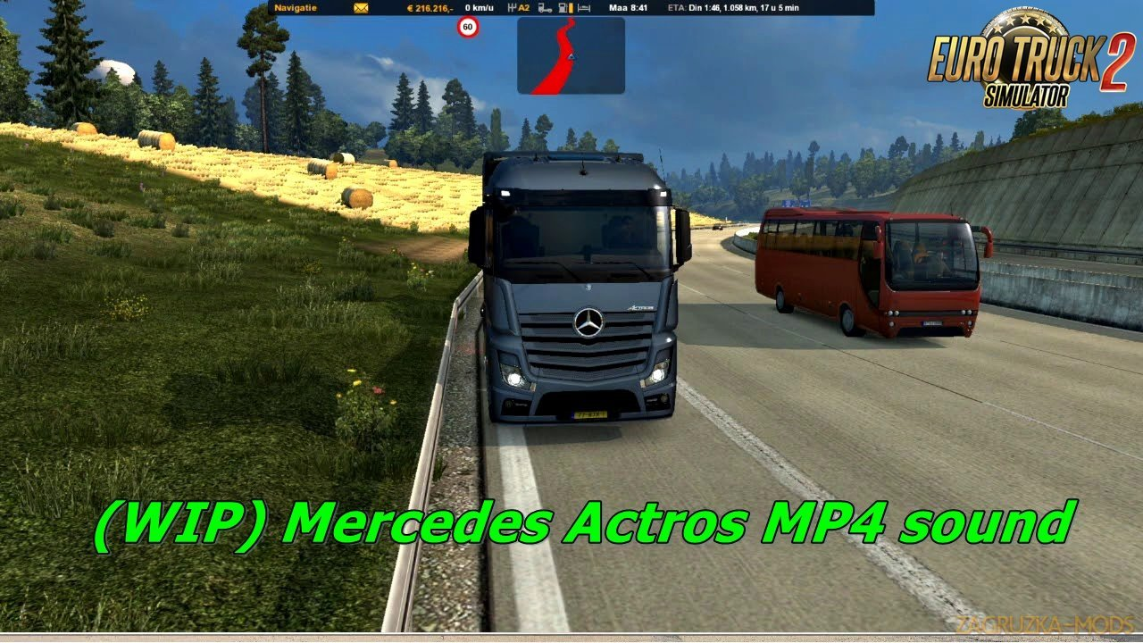 Reworked Mercedes Actros MP4 sound