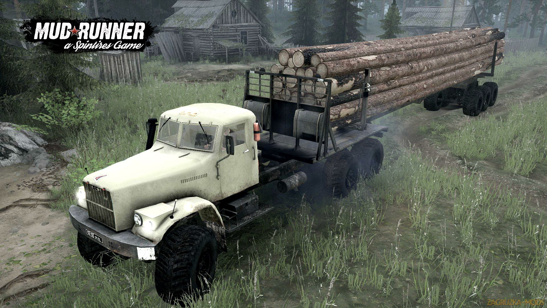 KrAZ-257 SVE 6x6 v1.0 (Updated) (v26.10.17) for Spin Tires: MudRunner