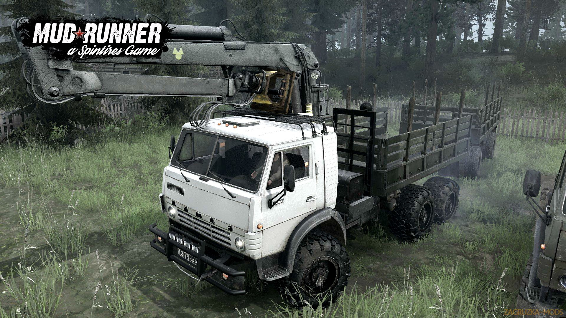 KamAZ 43101 (M) + KamAZ 43102 (M) (Updated) v1.0 (v07.11.17) for SpinTires: MudRunner