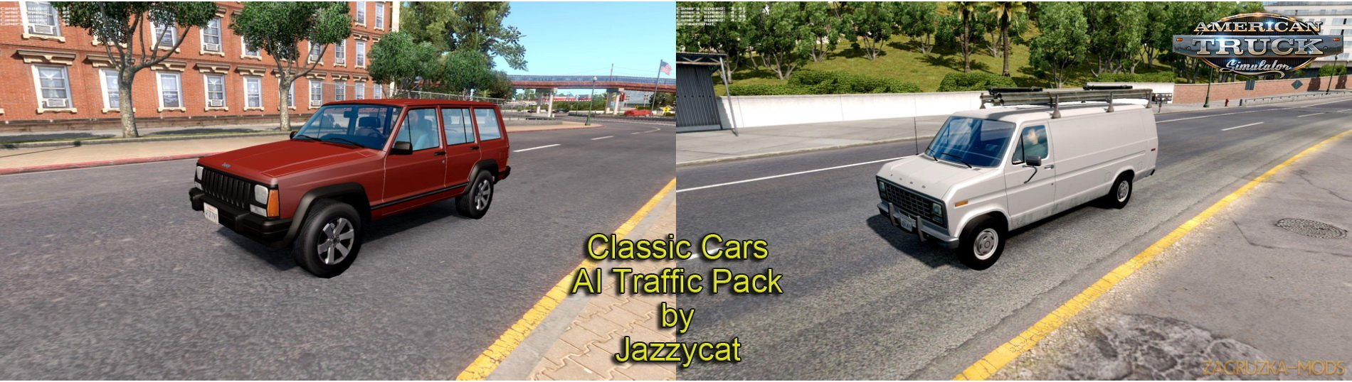 Classic cars AI Traffic Pack v1.5 by Jazzycat